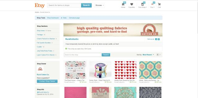Etsy screen shot
